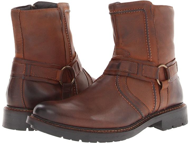 Johnston & Murphy Watts Harness Boot (Brown Burnished Calfskin) - Footwear