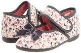 Cienta 120-1523 (Toddler/Little Kid) (Grey Floral) - Footwear