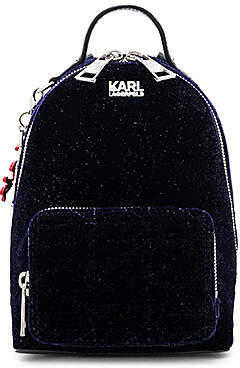 Karl Lagerfeld Paris X KAIA Velvet Mini Backpack