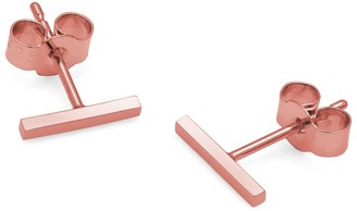 Myia Bonner 9K Rose Gold Bar Stud Earrings