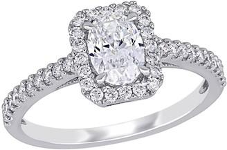 Affinity Diamond Jewelry Affinity 1.00 cttw Diamond Oval Engagement Ring, 14K