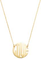Jennifer Zeuner Jewelry Mini Art Deco Love Pendant Necklace