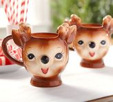 Pottery Barn Cheeky Reindeer Figural Mug - Benefiting Give a Little Hope Campaign