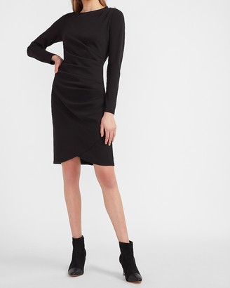 Express Embellished Button Shoulder Sheath Dress