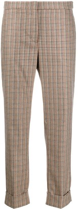 Pt01 Cropped Check Trousers