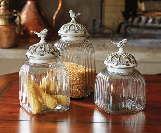 Napa Style Songbird Glass Canisters