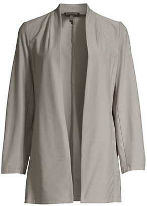 Eileen Fisher Open-Front Long Jacket