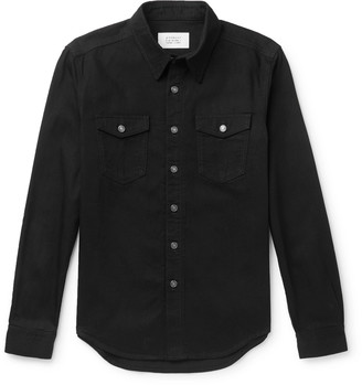 Givenchy Logo-Embroidered Denim Western Shirt