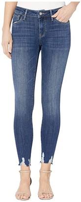 Mavi Jeans Adriana Mid-Rise Skinny in Dark Used Destroy Supersoft (Dark Used Destroy Supersoft) Women's Jeans