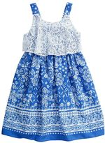 Youngland Girls 4-6x Floral Sleeveless Lace Popover Sundress