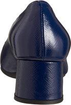 Prada Saffiano Cap Toe Pump