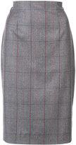 Carolina Herrera Tartan check pencil skirt - women - Silk/Wool - 8
