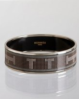 black enamel pixelated 'Recherche' medium bangle