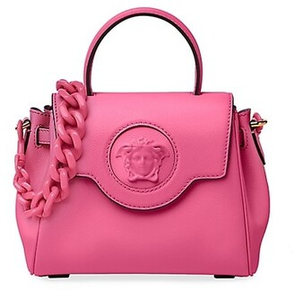 Versace La Medusa Mini Leather Top Handle Bag