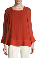 Plenty by Tracy Reese Back Keyhole Blouse