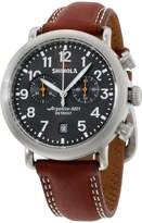Shinola 20001113 Stainless Steel & Leather Quartz 41mm Mens Watch