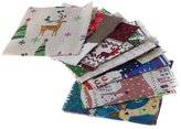 Dovewill 20 Pieces 4 Inch Christmas Quilting Cotton Fabric Square Quilting Square Pieces