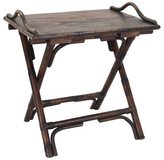 Jeffan Decorative Brown Rustic Antique Folding Side Table