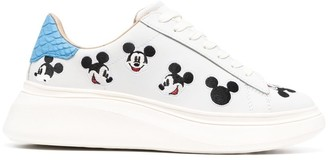 Moa Master Of Arts embroidered Mickey Mouse low-top sneakers