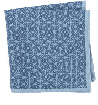 Ted Baker Starburst Geometric Silk Pocket Square