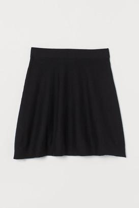 H&M Fine-knit Skirt - Black