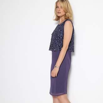 Anne Weyburn Sparkly Sleeveless Shift Dress
