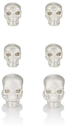 Deakin & Francis Men's Skull Formal Set - Silver