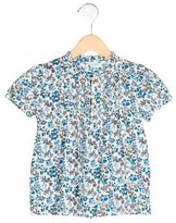 Papo d'Anjo Girls' Floral Short Sleeve Blouse