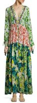 Rococo Sand Cotrie Floral Pleated Silk Dress