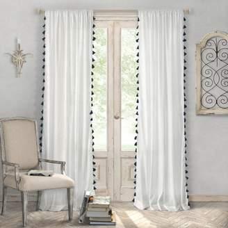 """Bianca Semi Sheer Curtain Panel, 52"""" x 84"""""""