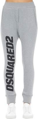 DSQUARED2 Logo Print Cotton Jersey Sweatpants