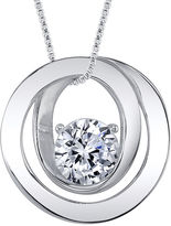 FINE JEWELRY Inspired Moments Cubic Zirconia Sterling Silver Friends Pendant Necklace