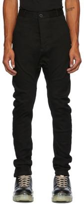 Boris Bidjan Saberi Black Resin-Dyed Jeans