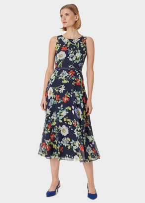 Hobbs Petite Carly Floral Midi Dress