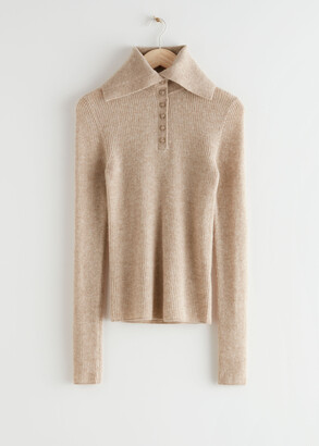 And other stories High Collar Knit Jumper