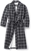 Logan Hill Men's Plaid Flannel Robe