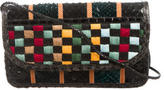 Carlos Falchi Python Patchwork Shoulder Bag