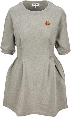 Kenzo Tiger Crest Sweatshirt Dress