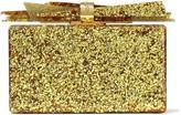 Edie Parker Wolf Glittered Acrylic Box Clutch