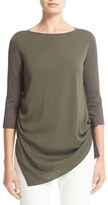 Fabiana Filippi Women's Crepe De Chine & Cotton Top