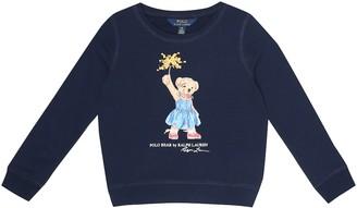 Polo Ralph Lauren Kids Polo Bear cotton-blend sweatshirt