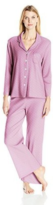 Karen Neuburger Women's Long Sleeve Interlock Knit Fabric Novelty PJ