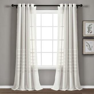 Lush Decor 2-pack Bridie Grommet Sheer Window Curtain Set