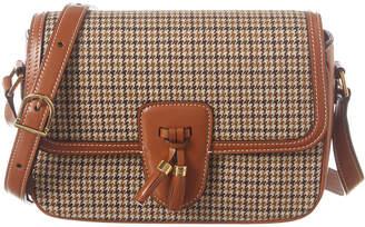 Celine Medium Tassels Tweed & Leather Shoulder Bag