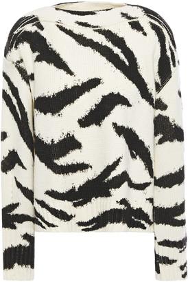 Philosophy di Lorenzo Serafini Zebra-print Wool Sweater