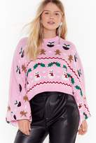 Nasty Gal There's Snow-one Like Me Plus Christmas Sweater