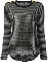 Veronica Beard striped longlseeved T-shirt