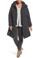 Jessica Simpson Plus Size Women's Hooded Vest Inset Puffer Coat