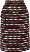 Oscar de la Renta Wool and cotton-blend skirt