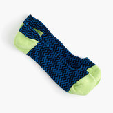 J.Crew No-show socks in zigzag